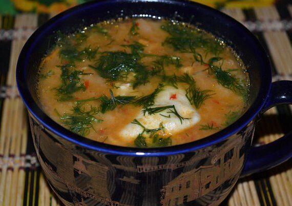 Чесночный суп с перцем