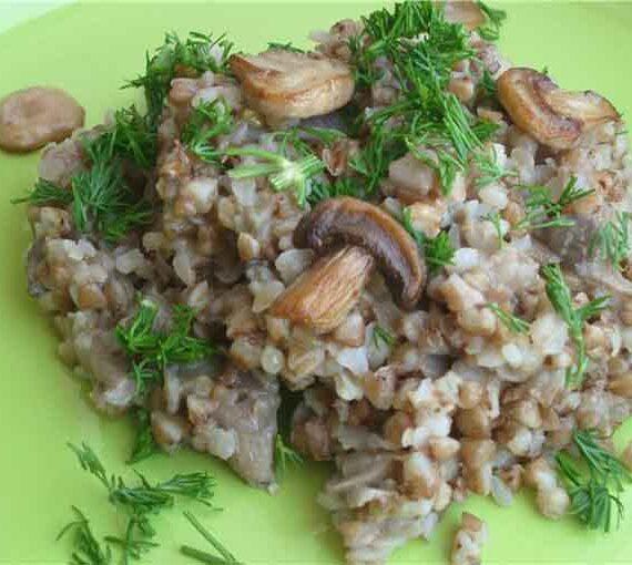 Полезные блюда из гречки с грибами