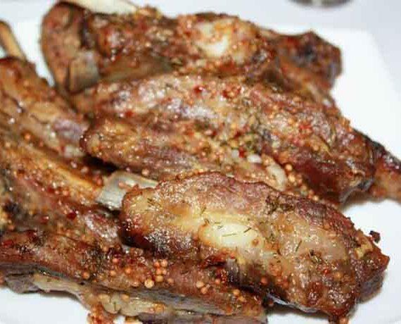 Свиные ребрышки – блюдо с градусом